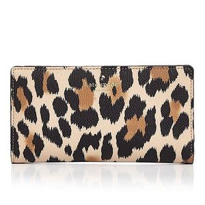 Kate Spade Hyde Lane Leopard Print Stacy Wallet